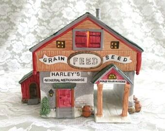 Vintage Village Christmas House Miniature House Christmas Village House Lighted House Christmas Building Miniature Village Figurine Snow