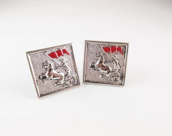 Vintage Swank Chariot Cuff Links