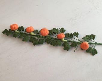 Miniature Pumpkin Vine, Mini Garland, Dollhouse Miniature, 1:12 Scale, Dollhouse Accessory, Decor, Mini Vine, Fall Decor, Floral, Crafts