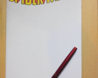 Spiderwoman blank cover comic marvel commission drawn by boo rudetoons Spiderman avengers ink pen HarleyQuinn Deadpool free shipping