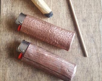 Metal Lighter Case, Handforged Hammered Copper Lighter Sleeve. Standard  Lighter Cover. Gift for Him or Her! Unisex Designs. Fits Bics.