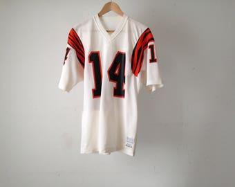 CINCINATTI BENGALS vintage Ken Anderson nfl football 90s jersey number 14 mens vintage