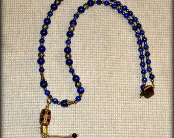 "Lapis Lazuli necklace 26"""