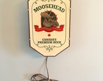 Vintage Moosehead Beer Lighted Sign