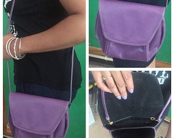 Vintage Purple Cross body Handbag // Purple Purse