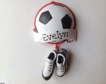 Soccer ornament | Etsy