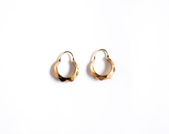 Antique 10k Gold Hoop Earrings c.1900