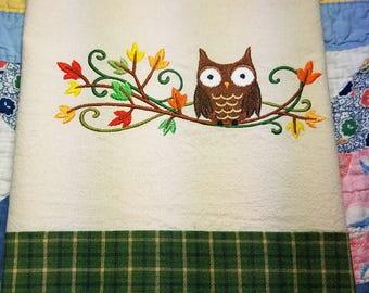 Owl Decor, Owl Lover, Owl Gift, Owl Theme, Kitchen Dish Towel,