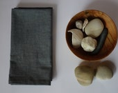 organic everyday cloth napkins // stormy blue chambray // set of 2 // modern. eco-friendly. sustainable