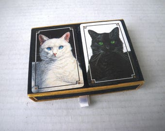 Black & White Cats Playing Cards - Two Packs - Bridge Set - Congress Printed in Spain