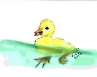 Duckling Print Duck Print Baby Duck  Print Duckling Duck Babies  Duck Nursery  Farm Nursery   Baby Animals  Duck Lover