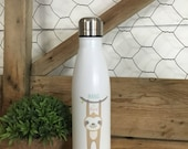 Sloth Water Bottle - Hang in There Gift- Stainless Steel Water Bottle - Sloth Lover - Sloth Life - Reusable Water Bottle - Sloth Gift Idea