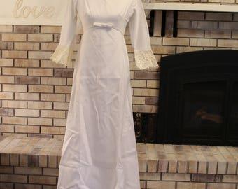 Vintage 1950's Alfred Angelo Wedding Gown with Veil, Wedding Dress, Empire Waist Wedding Dress