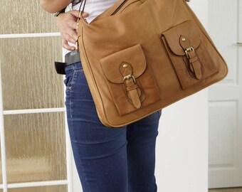 RUSTIC Leather Bag, Leather Bag, Handbag Tote,  Leather Shoulder Bag, Leather Cross Body Bag, Large Leather Handbag Leather Women Bag, Elsa!