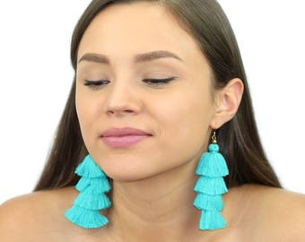 Kristin Perry Colorful Fringe Tassel Earrings