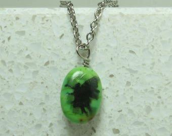 Fairy pendant engraved green imperial jasper pendant