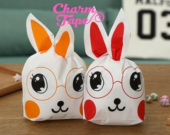 Rabbit Bunny Bags // Cello Bags // Party Bags // Self Sealing bags Set of 25 bags CB23 10x17x5.5 cm