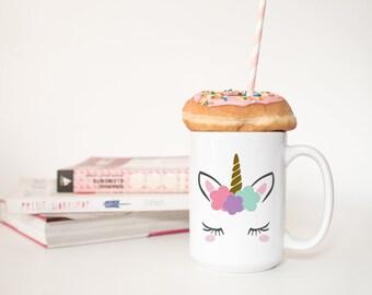 Unicorn Mug - Cute Mug - Unicorn Gift for Friend - Unicorn Lover Gift for Her - Unicorn Coffee Mug - Best Friend Gift - Dishwasher Safe Mug
