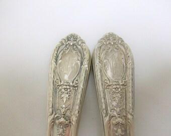 Ornate Sterling Silver Carving Knife & Fork Monogrammed /
