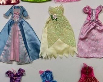 Barbie and Others 20 piece Doll Clothing Lot of Ball Room Gowns