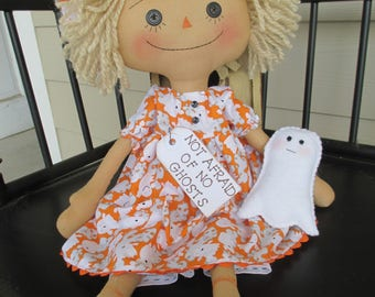 Ghost Raggedy Ann with her felt ghost