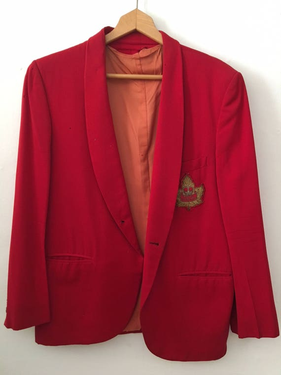 Big Band 1950s red Guy Lombardo Royal Canadians Don Cooper tux jacket