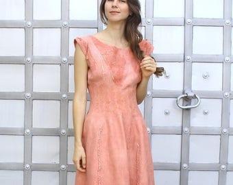 Coral Prom Dress, Formal Midi Dress, Spring Dress, Plus Size Dress, Oversized Dress, A Line Dress, Layered Dress, Cocktail Dress