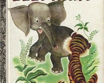 Vintage The Saggy Baggy Elephant A Little Golden Book, Children's Book, C1977