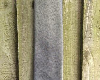Men's Mod Tie - Retro 70s Tie - Biska Trevira - Metallic Grey Tie - Grey Skinny Tie - Vintage Skinny Necktie