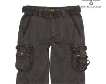 Black Vintage Survival Shorts Prewash