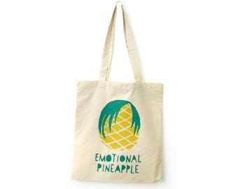 SALE 15% OFF, Tote canvas summer, Market bag, Canvas tote bag, Pool bag, Fun tote bag, Pineapple tote, Tote bags, Summer tote, Handprinted