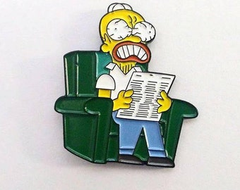 The Simpsons Angry Dad Pin