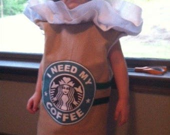 Girls Strawberry or Coffee Frappuccino Dress Halloween Costume (Newborn - 5T)