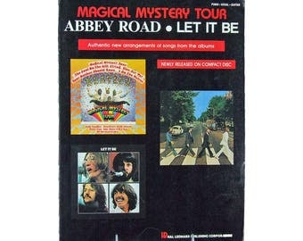 Beatles Magical Mystery Tour Abbey Road Let It Be Songs Book Piano, Vocal, Guitar Songs from the Albums Beatles Sheet Music Book
