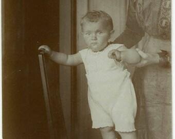 "Vintage RPPC Postcard ""Moment in Time"" Snapshot Antique Black & White Photograph Found Paper Ephemera Vernacular Interior Design Mood - 20"