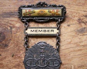 Vintage IOOF Oddfellows Member Lapel Pin
