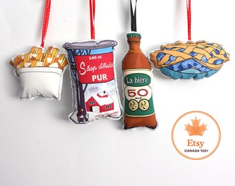Christmas Ornaments: Québec themed- Canadian ornament set