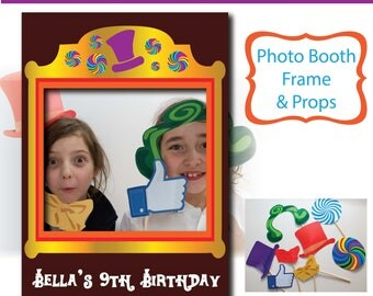 Photo Booth Frame - Willy Wonka -Printable - Instant download