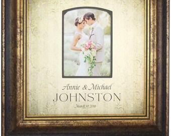 Wedding Gift Bride Groom, Wedding Photo Frame, Wedding Gift For The Couple, Engagement Gift, Wedding Frame, 16x16