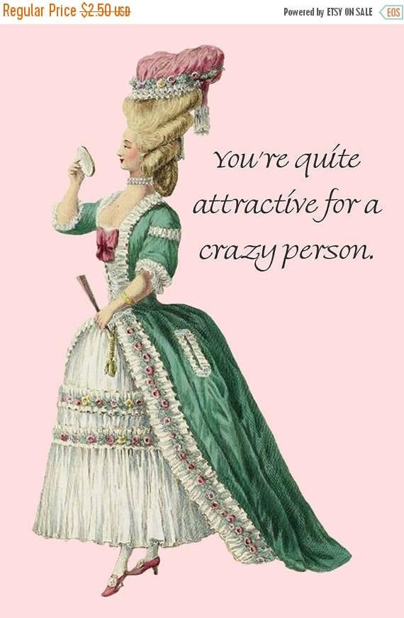 Marie Antoinette. Marie Antoinette Postcard. Marie Antoinette Card. Postcard. Card. Green Dress. Pink. Gift for Her. Marie Antoinette Wig.