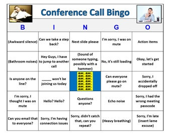 office meeting bingo