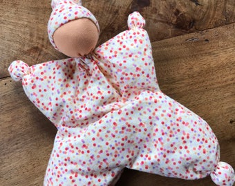 Waldorf Butterfly Doll With Yellow Dotted Body and Light Skin