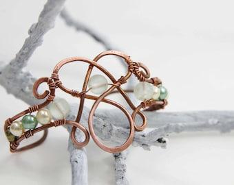 Green Copper Celtic Cuff
