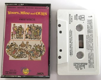 Yours, Mine and OURS - Original motion picture soundtrack - vintage cassette tape - Fred Karlin - movie - 1986 80s- Free shipping Canada USA
