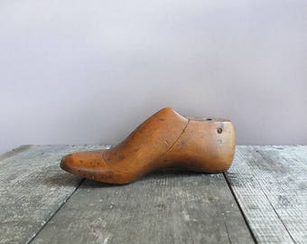 Vintage Wooden Shoe Form / Cobbler's Shoe Form / Wood Shoe Form