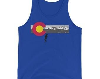 Colorado Flag Mountain Climber Tank Top