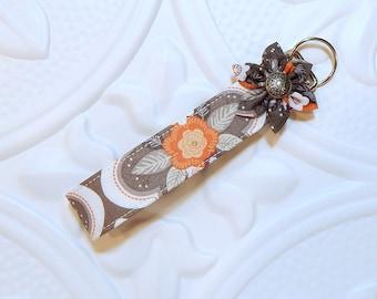 Key Fob - Key Fob Keychain - Key Chain Key Fob -  Wristlet Lanyard - Key Holder - Floral Keychain