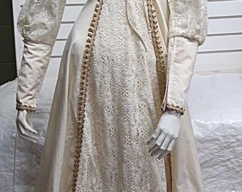 Gunne Sax Vintage Ivory Dress Size 5 #546
