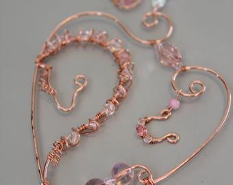 Horse Suncatcher, PRETTY IN PINK, horse lover gift, crystal suncatcher, wire horse, window decoration,
