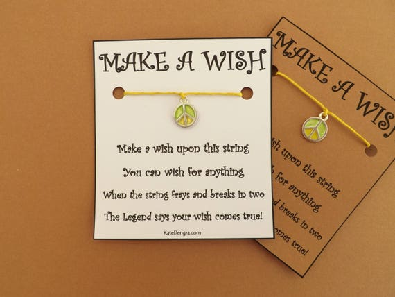 Lemon and Lime Peace Wish Bracelet